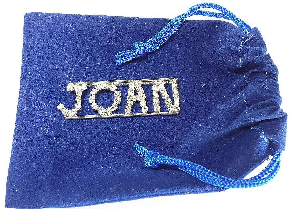 Personalized Rhinestone JOAN name//magnet back
