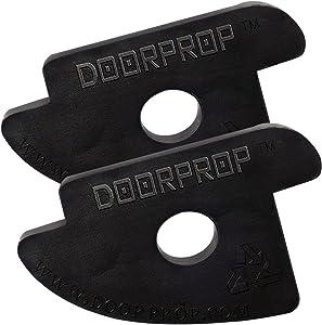 Doorprop Commercial Door Stop - Patented Design Door Wedge Ideal for Hotels, Hospitals, Schools, Offices, More   Door Stop Exclusively for Tension Hinged Doors (2 Pack + Belt Clips)