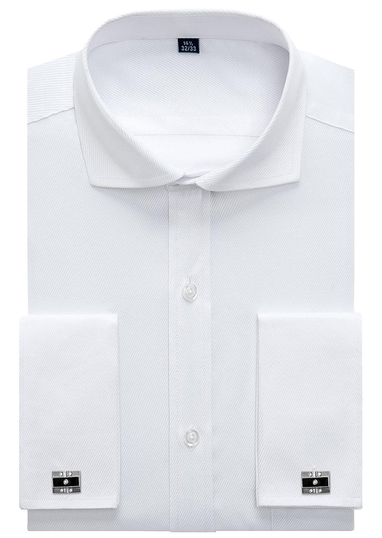 Alimens & Gentle Customize Products Spread Collar French Cuff Regular Fit Dress Shirts (Cufflink Included) ALM-M-TD-FR-2