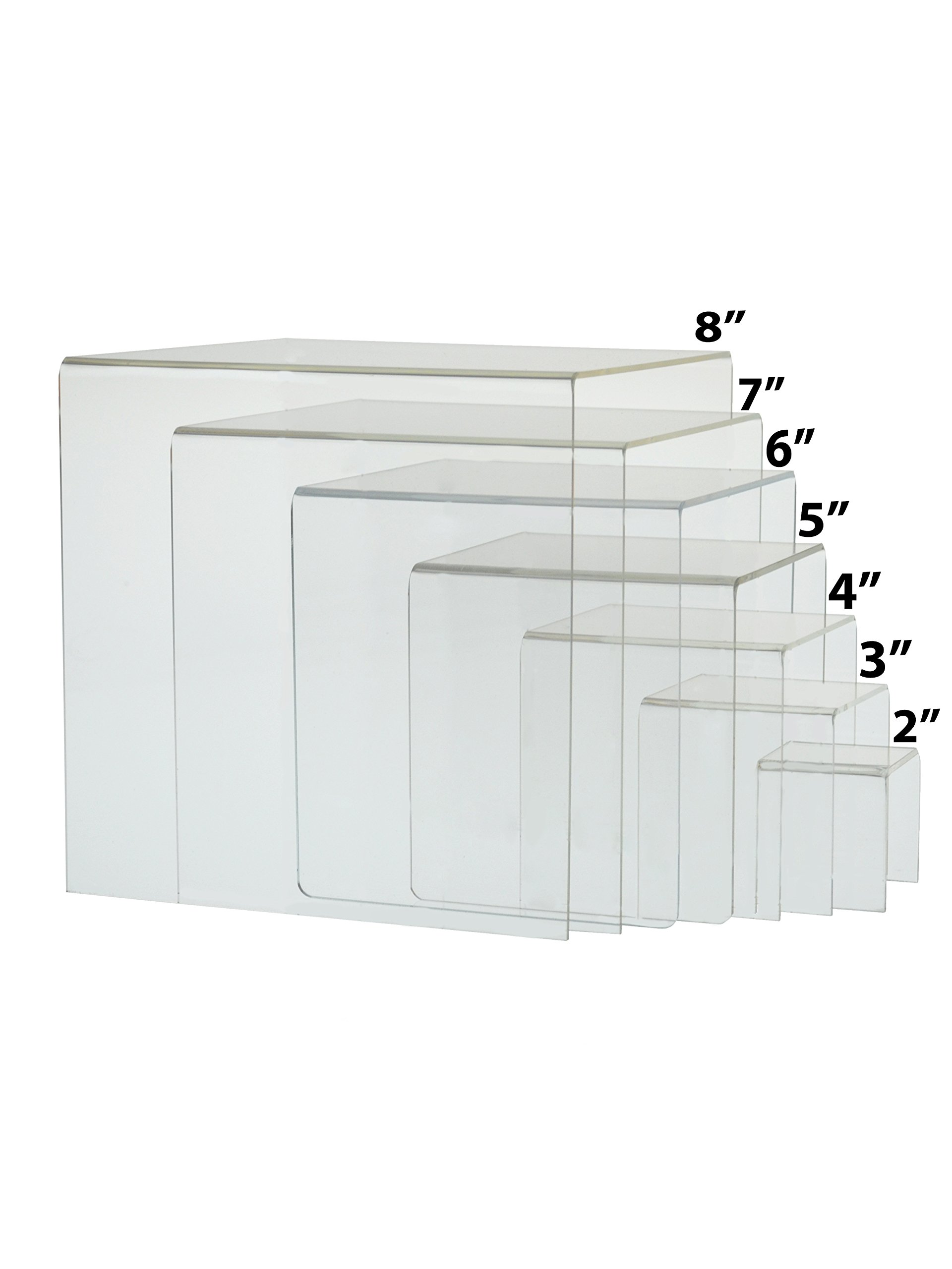 Marketing Holders Lot of 4 Cube Counter Top Riser Full Set of 7