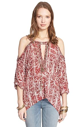 631e923c9fe120 Image Unavailable. Image not available for. Color  Free People Good Morning  Cold Shoulder Top ...