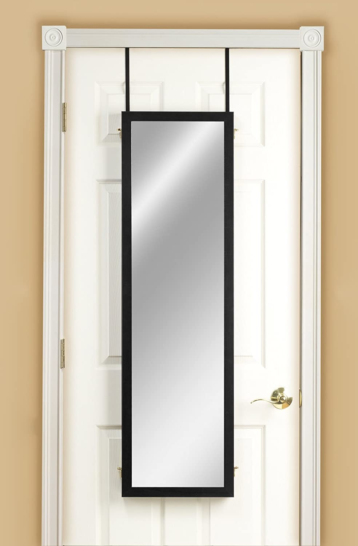 Oak Mirrotek 3VU1448OK Triple View Professional Over The Door Dressing Mirror with 4 Mirrors