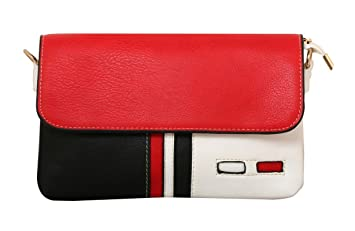 6ff13d0a6d8a Image Unavailable. Image not available for. Colour  The Peacock Craft  Women s handbag Sling bag Crossbody bag Casual Tommy Red ...