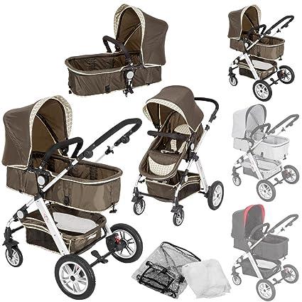 TecTake 2 en 1 Silla de paseo aluminio coches carritos para bebes convertible con protección contra