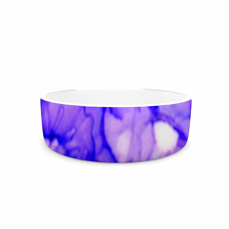 4.75\ KESS InHouse Claire Day Purple  Lavender Pet Bowl, 4.75