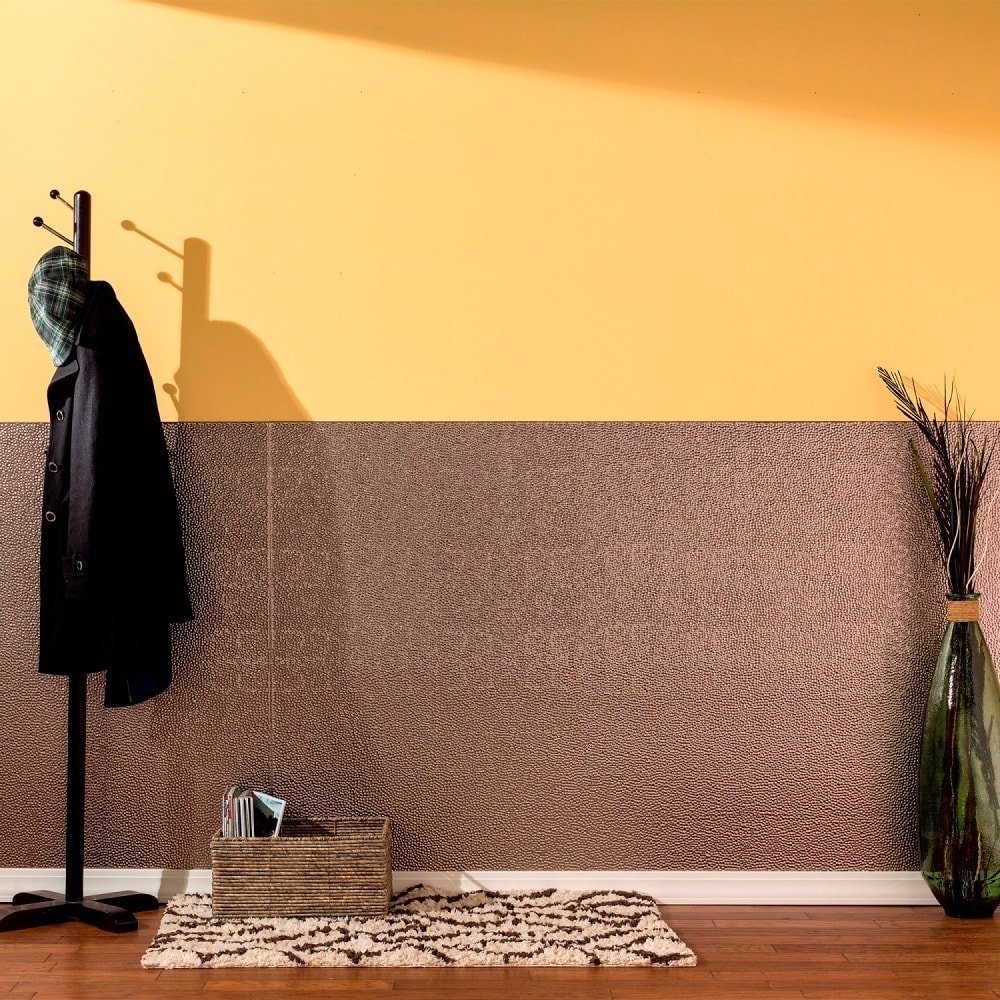 Amazon.com: Fasade - Hammered Brushed Nickel Decorative Wall Panel ...