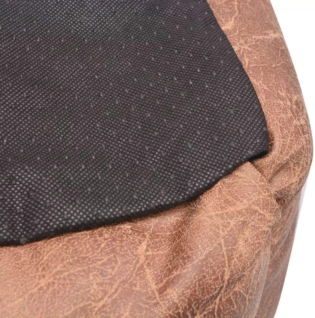 vidaXL Cama para perro con coj/ín PU cuero artificial talla L beige