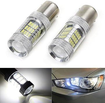 2PCS 1156 White SMD LED Bulbs for Lancer Evo X Daytime Running Lights DRL