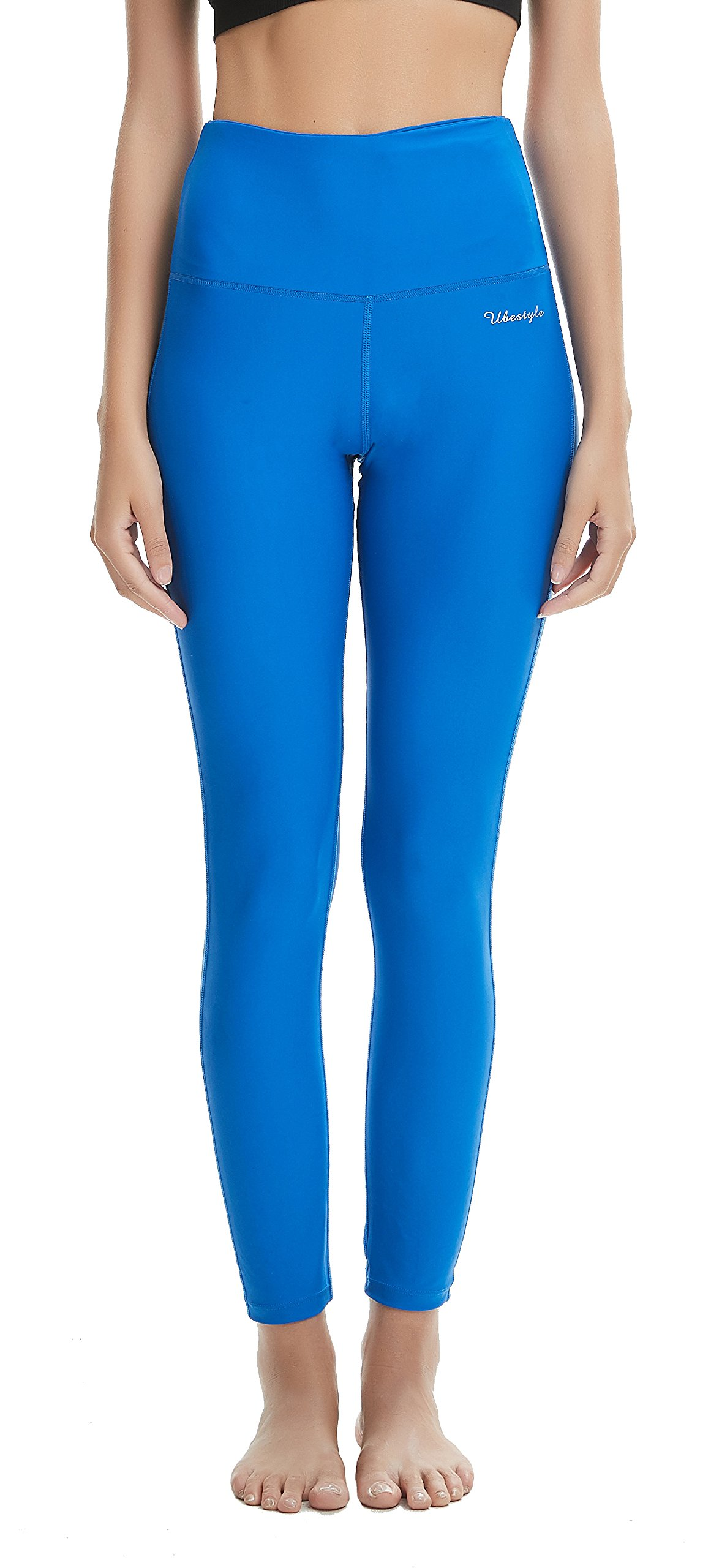Ubestyle UPF 50+ High Waist Women's Leggings Swimming Tights Sun Protective (Royal Blue, XL)
