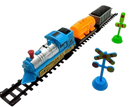 Buy Train World Play Set of 17pcs with Tracks Toy for Kids Online at