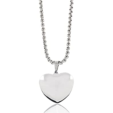 b92bb8c7d2 Fashion Accessories by Julie Jewelry - Stainless Steel Heart Necklace -  Make Every Second Count -
