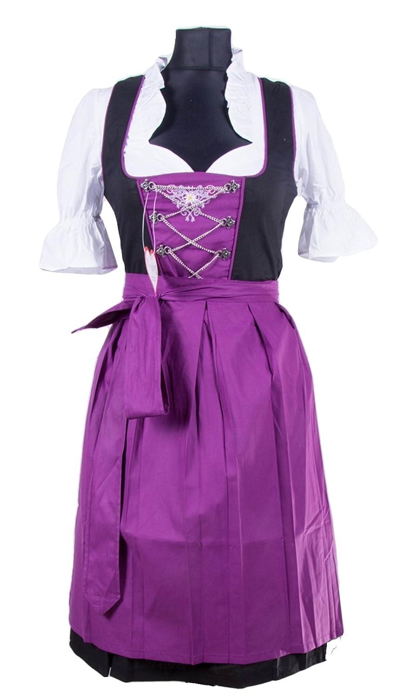 Rose Trachten Dirndl ca. 100cm 3 tlg.Trachtenkleid Kleid, Bluse ...