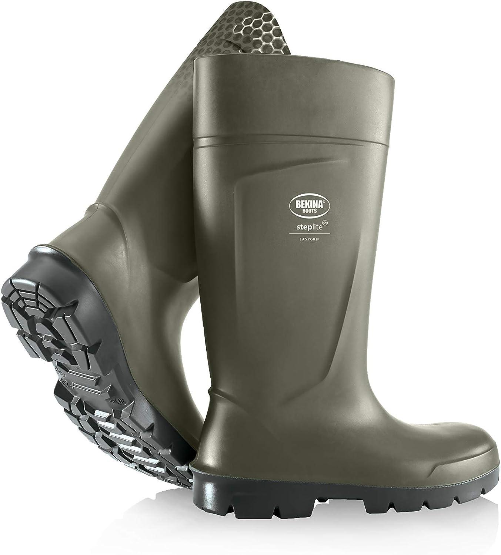 Bekina Steplite EasyGrip Agrilite O4, Non-Slip Agricultural Safety Work Boots, Green
