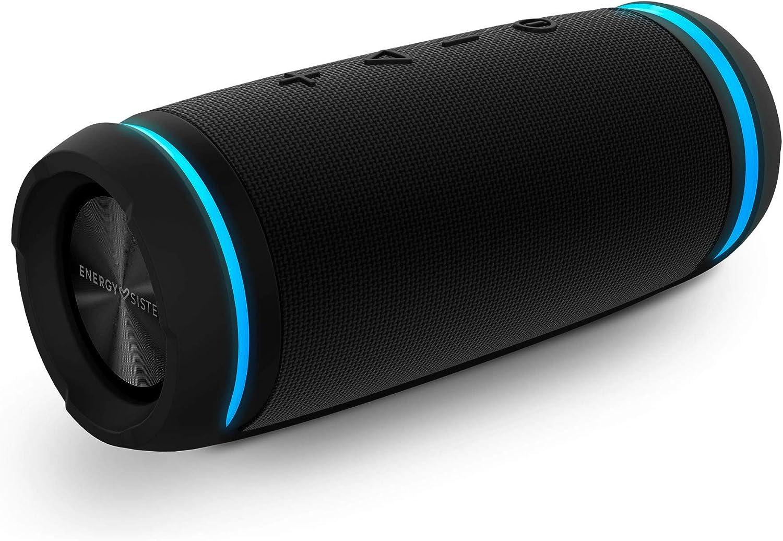 Energy Sistem Urban Box 7 BassTube Altavoz portátil con Sonido 360º, Bluetooth y Tecnología True Wireless (30 W, Resistente al Agua) - Negro