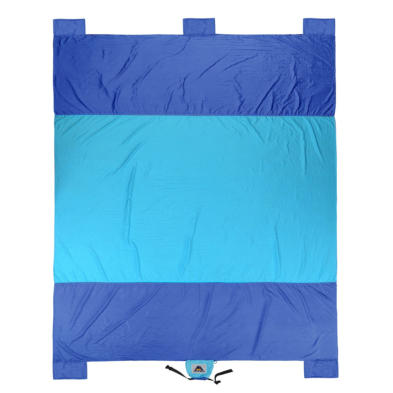 USA PolarBear Compact Outdoor Beach//Picnic Blanket Water Resistant Sand Free Oversized 7 x 9.5 Parachute Nylon Blankets for Travel,Camping,Hiking,Festival,Sports-5 Weightable Pockets