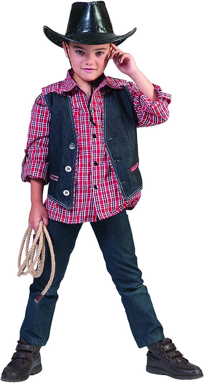 chamboolee – Disfraz de vaquero con bolsa de chaleco para niño Boy ...