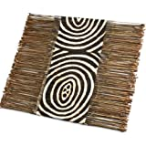 Radiating Circles African Twig & Cloth Table Runner