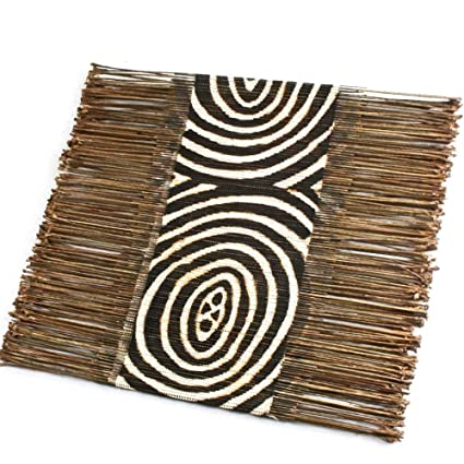 Radiating Circles African Twig U0026 Cloth Table Runner
