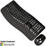 مايكروسوفت لوحة مفاتيح لاسلكي متوافقة مع PC - اسود