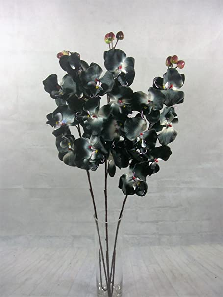 Artificial flower stems orchid 75 cm ready for a vase set of 3 stems artificial flower stems orchid 75 cm ready for a vase set of 3 stems black mightylinksfo