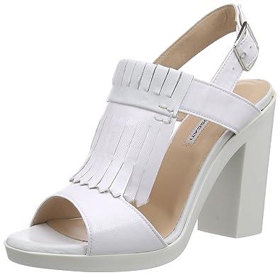 St.Tropez, Sandales Bout Ouvert Femme - Blanc - Weiß (Bianco+Bianco), 38Lea Foscati