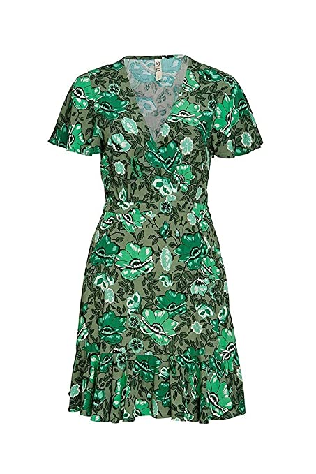 7a31a6dc6b Beach Dress Tunic Green Printing Elegant Tunics for Women Deep V-Neck Beach  Cover Up Summer Women Floral Bathing Suit Color Army Green Size L:  Amazon.in: ...