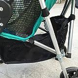Baby Stroller Storage Bag,Attachable Bottom Basket for Stroller Pushchair Hanging Net Multifunctional Universal
