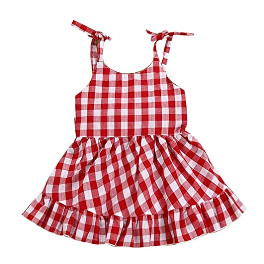 0d5a0982fd Amazon.com  MIOIM Toddler Baby Girls Dress Infant Baby Summer Strap ...