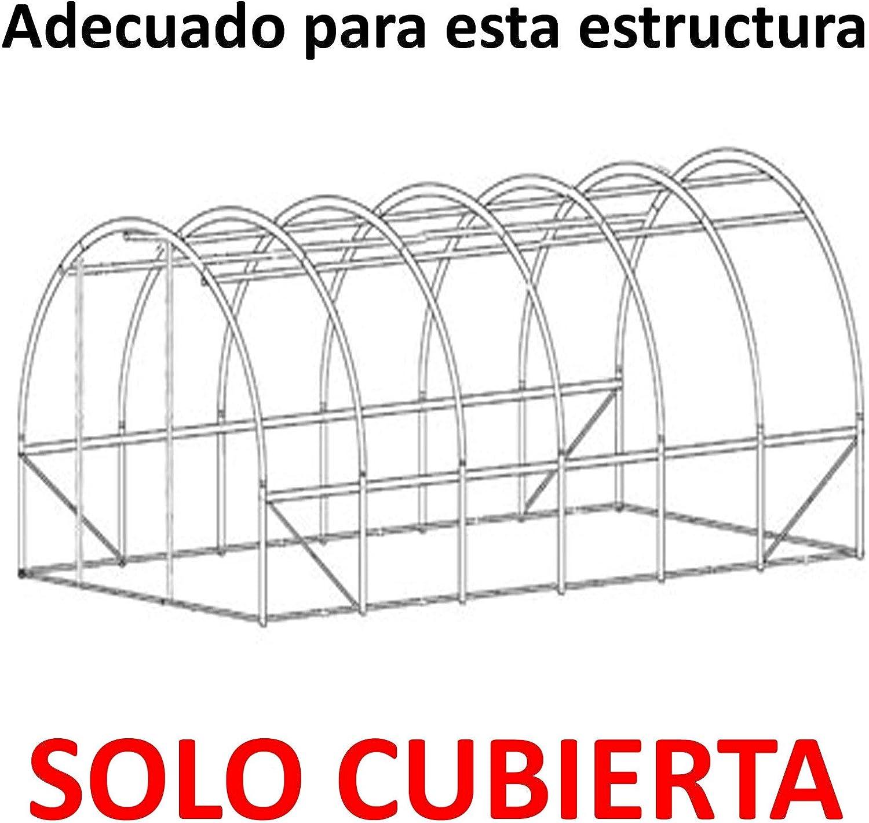 3m x 2m, 4m x 2m o 6m x 3m Polit/únel de pl/ástico Tres tama/ños t/únel de polietileno. 3 m x 2 m Cubierta de repuesto solo invernadero de pl/ástico sin marco para t/únel invernadero de polietileno