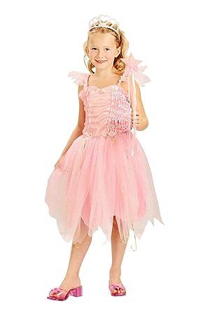 Generique - Disfraz Hada Princesa Rosa niña M 7-9 años (120-130 cm ...