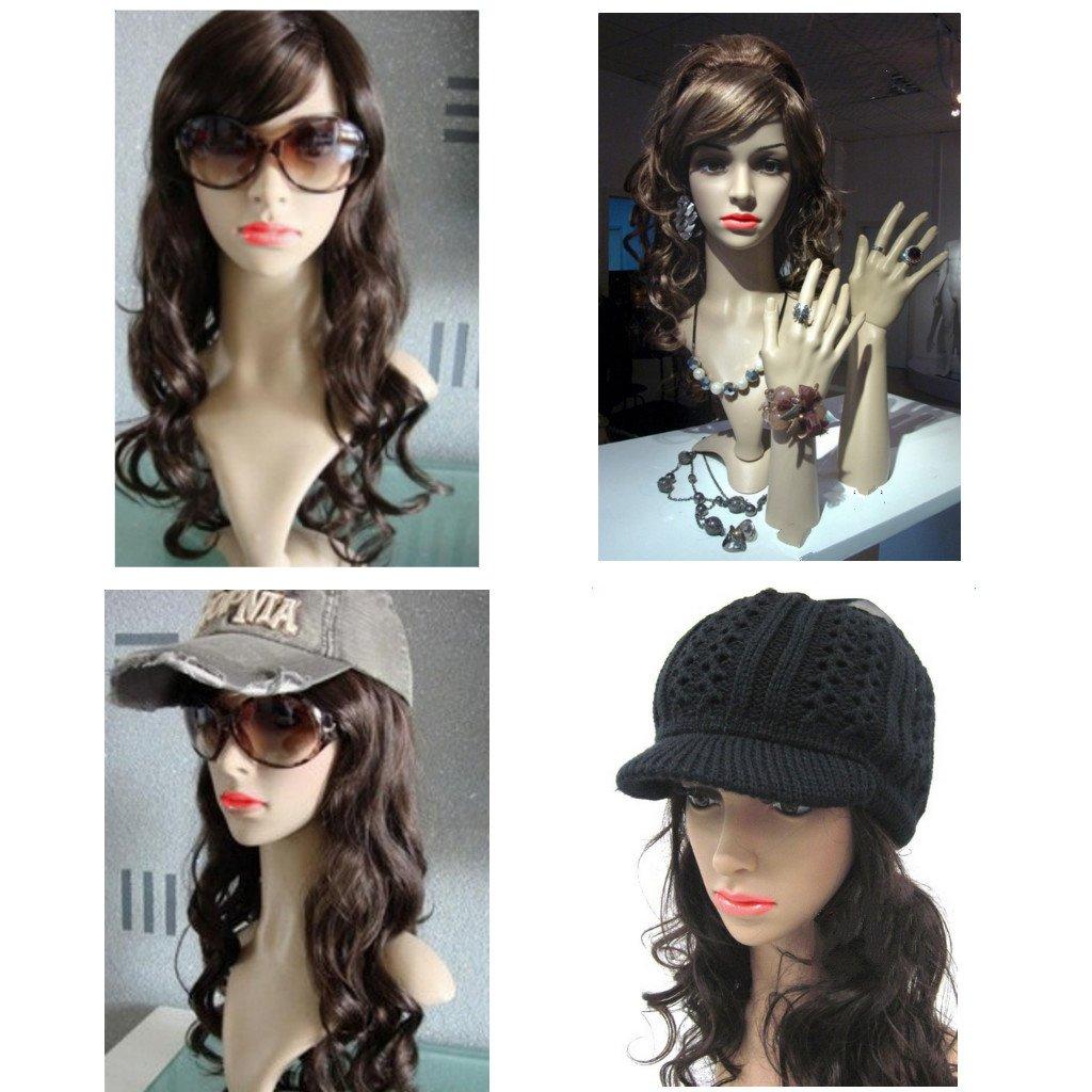 Cabeza De Maniquí Femenino Soporte Vasos Capilares Peluca Sombrero Bufanda Modelo De Exhibición Joyería Generic