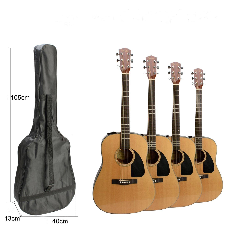 Negro Guitarra Bolso 40/41/pulgadas Guitarra ac/ústica Guitar Gig Bag Guitar Case resistente al agua funda para guitarra Guitarra Mochila Guitar Bag Bolsa resistente