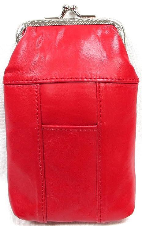 Funda de piel para dos unidades color rojo