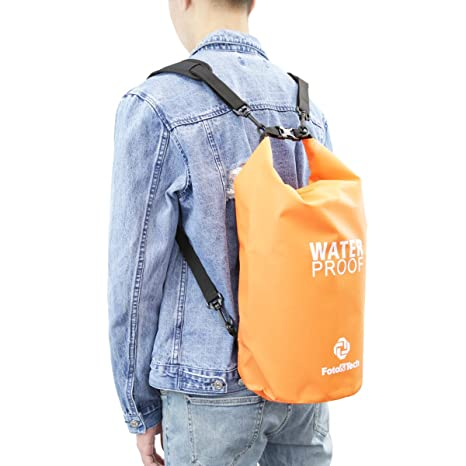 85f1bdcf2d69 Foto Tech Orange 10LT Waterproof Dry Bag Roll Top Dry Compression Sack Floating  Dry Gear Bag Storm