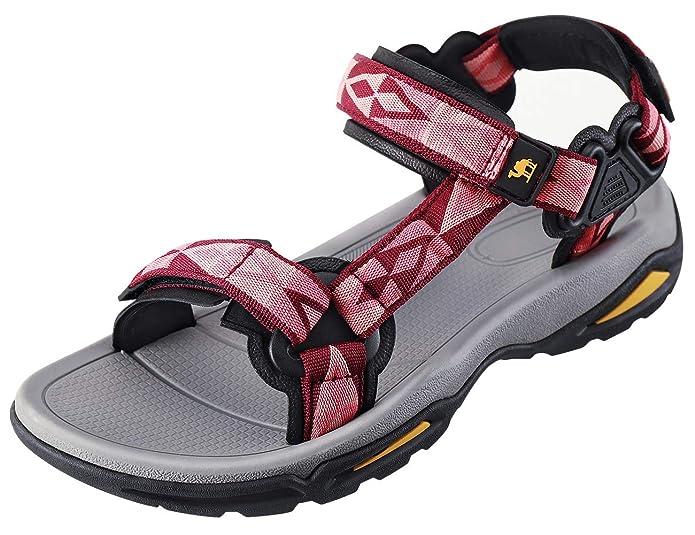 CAMEL CROWN Damen Sport-& Outdoor Sandalen Sommerschuhe Flach Frauen Sneaker Strand Beach Atmungsaktiv Wandern Sandalen Walki