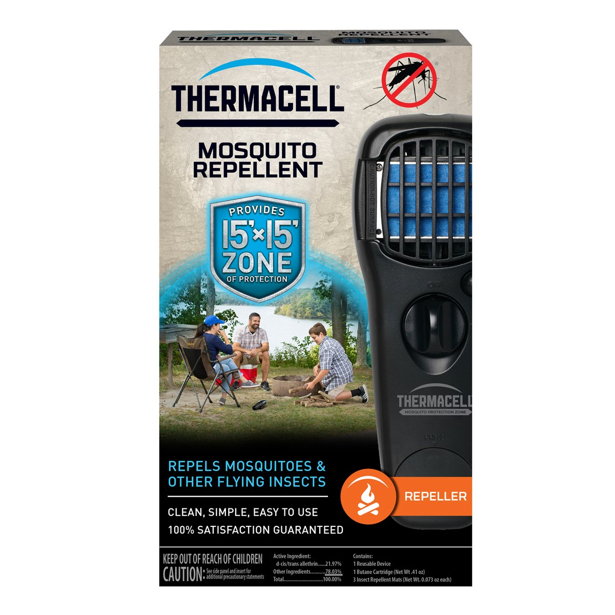 Amazon.com: Thermacell MR LJ Portable Mosquito Repeller, Black: Sports U0026  Outdoors