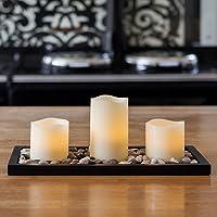 Conjunto de 3 velas de LED de cera