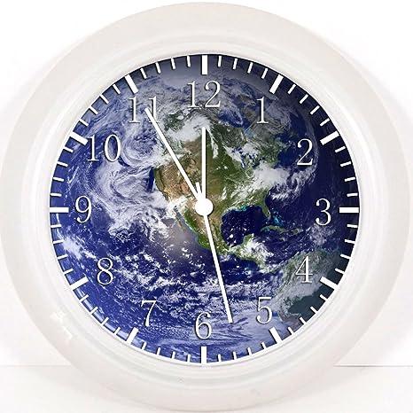 """Planeta la tierra reloj de pared 10 """"será bonito regalo y decoración de la"""