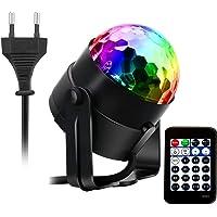 AOGUERBE Luz de Escenarios, Mini Lámpara de Etapa Luces de Discoteca Sonido Activado RGB LED Disco Bola Mágica Luces…