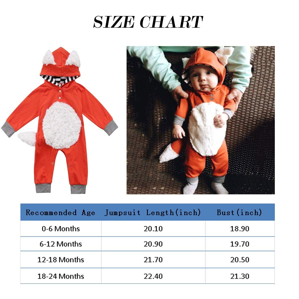 Toddler Infants Winter Clothes Hooded Romper Long Sleeve Animal Style Footie Pajamas Baby