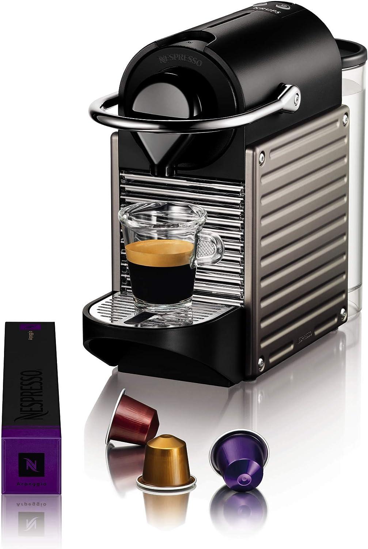 Krups Nespresso Pixie Independiente Máquina espresso 0,7 L - Cafetera (Independiente, Máquina espresso, 0,7 L, Cápsula de café, 1260 W, Titanio): Amazon.es: Hogar
