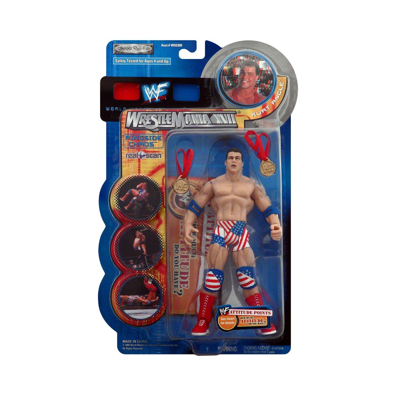 Jakks Pacific Wrestlemania XVII Ringside caos Kurt ángulo
