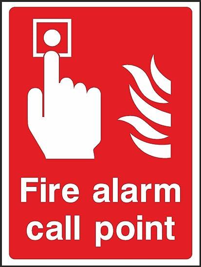 20 cm x15 cm alarmas de incendio pulsador de alarma (2 mm ...