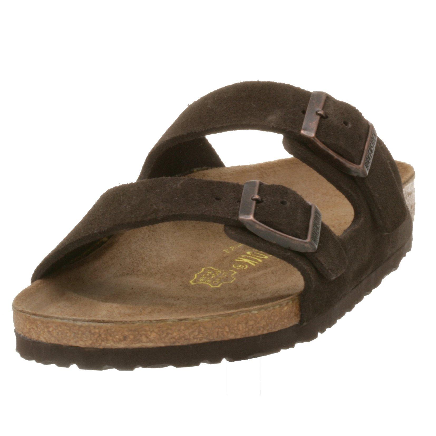 Birkenstock Unisex Arizona Mocha Suede Sandal 41 N (US Men's 8-8.5 / US Women's 10-10.5)