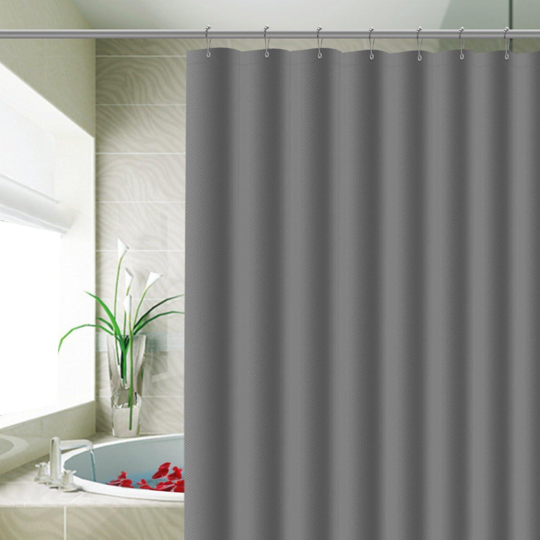 ENCOFT Cortinas de Ducha de Poli/éster Resistente al Moho Antibacteriana F/ácil de Limpiar Lavables con 12 Ganchos Cebra 180 x 180 cm