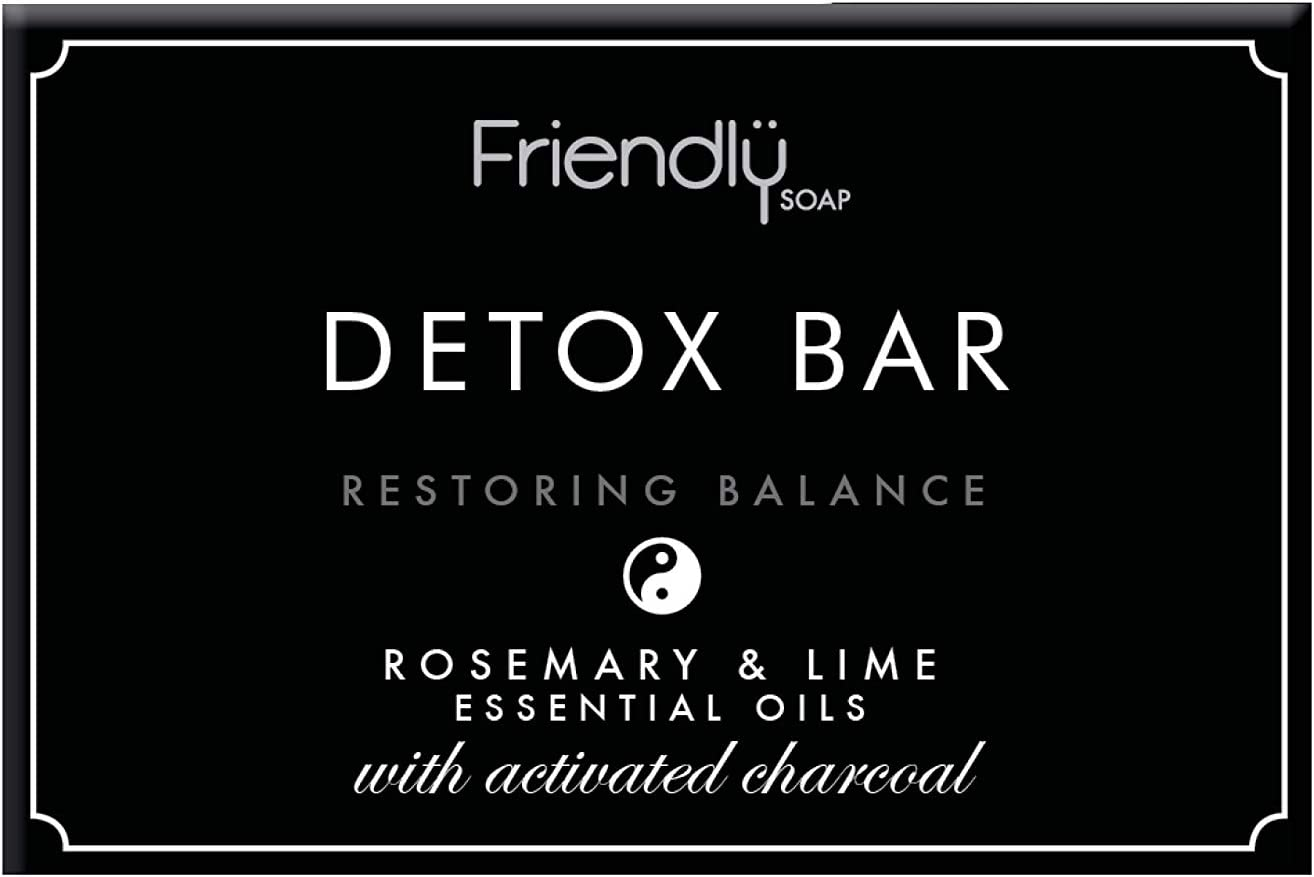 Friendly Soap Natural Activated Charcoal Detox Bar Soap (Case of 6)