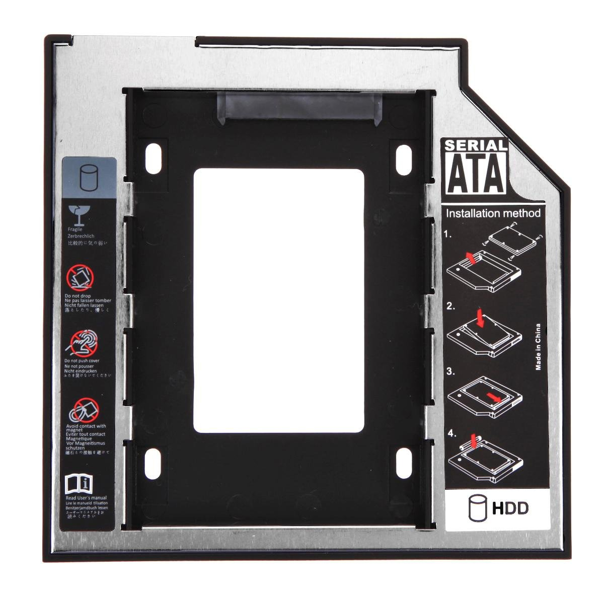 Everpert - Adaptador de Disco Duro SSD SATA DE 9, 5 mm para Disco Duro DE 2, 5 Pulgadas