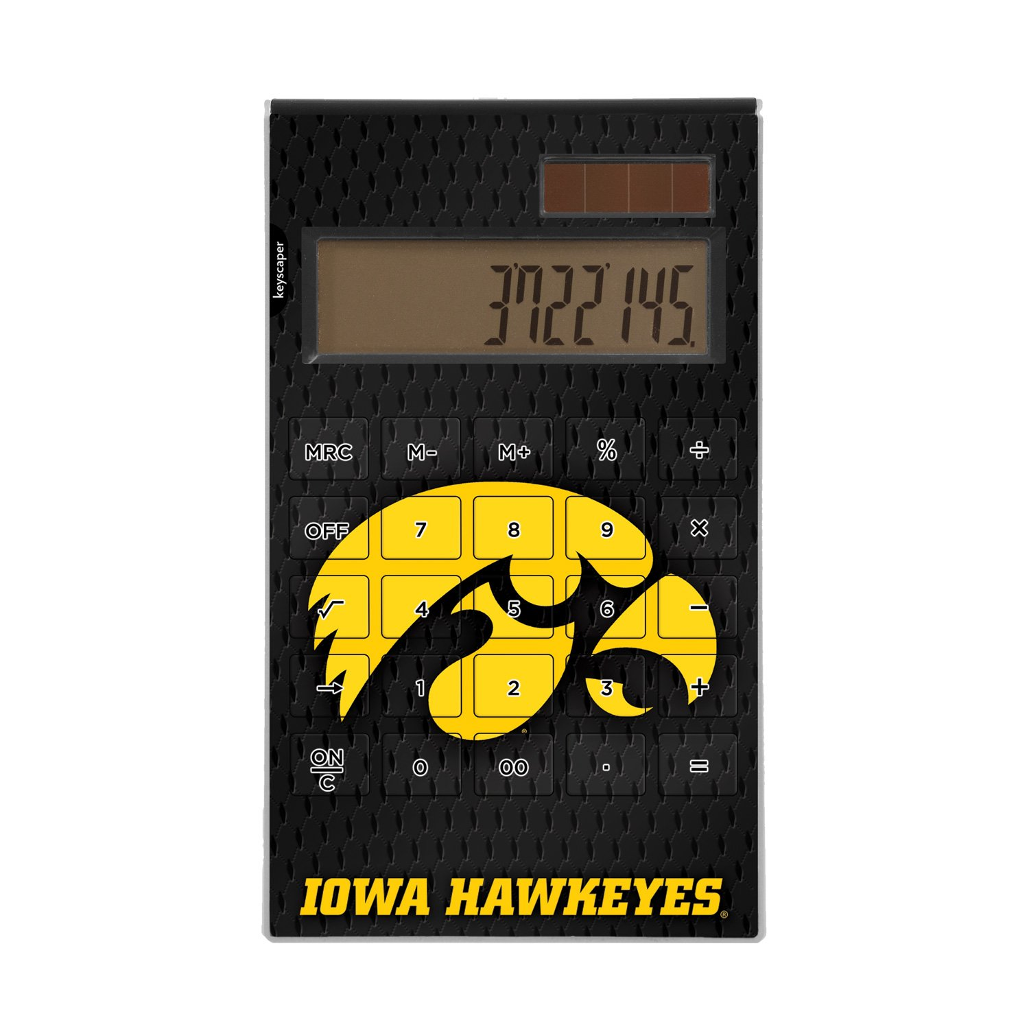 Iowa Hawkeyes Desktop Calculator officially licensed by the University of Iowa Full Size Large Button Solar by keyscaper® by Keyscaper