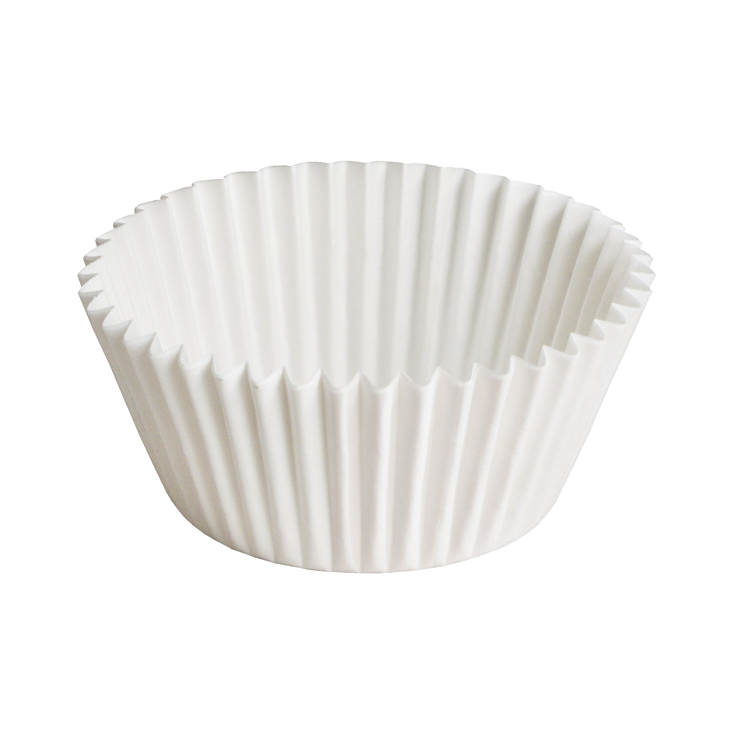 Hoffmaster 610515 Fluted Bake Cup, Zip Pack, 1.5'' Base x 1'' Height, White (Pack of 10000)
