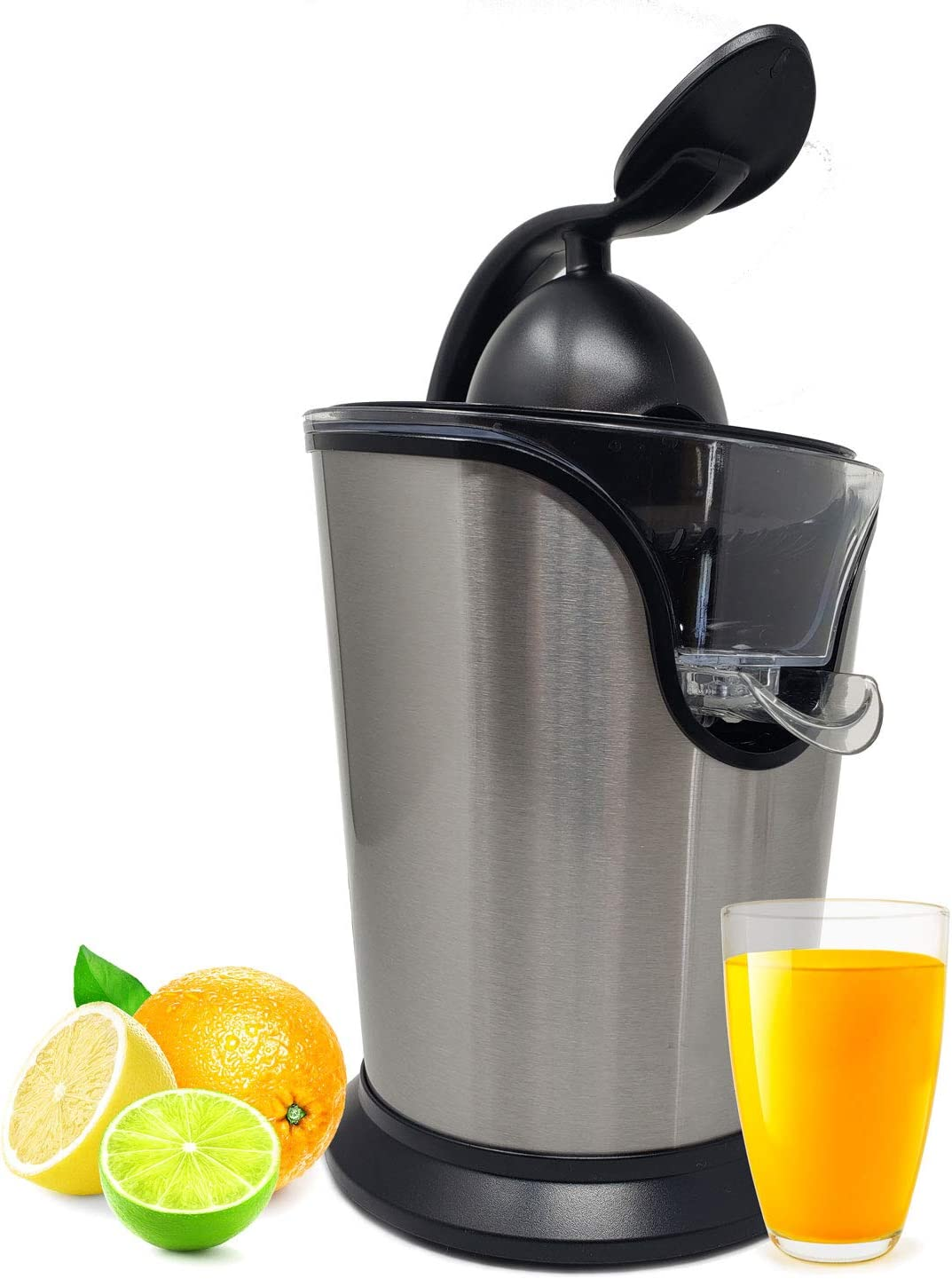 Electric Citrus Juicer Press Squeezer Stainless Steel Ultra Quiet & Super Duty 85 Watt Motor Anti Slip & No Drip For Orange & Lemon